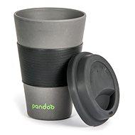 PANDOO újrafelhasználható bambuszcsésze kávéhoz és teához 450 ml fekete - Pohár