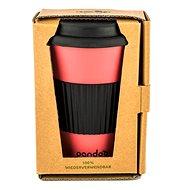 PANDOO újrafelhasználható bambuszcsésze kávéhoz és teához 450 ml piros - Pohár