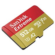 SanDisk MicroSDXC 512GB Extreme A2 UHS-I (V30) U3 + SD adapter - Memóriakártya