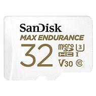 SanDisk microSDHC 32GB Max Endurance + SD adapter - Memóriakártya
