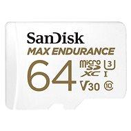 SanDisk microSDXC 64GB Max Endurance + SD adapter - Memóriakártya