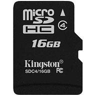 Kingston Micro SDHC 16GB Class 4 - Memóriakártya