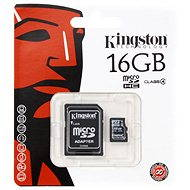 Kingston MicroSDHC 16GB Class 4 + SD adapter - Memóriakártya