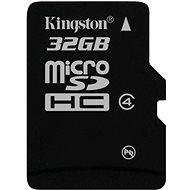 Micro Kingston 32GB SDHC Class 4 - memóriakártya