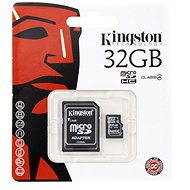 Micro Kingston 32GB SDHC Class 4 + SD adapter - memóriakártya