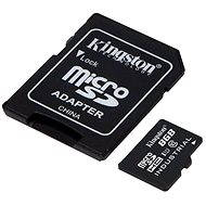 Kingston Micro SDHC 8GB Class 10 UHS-I Industrial Temp + SD adapter - Memóriakártya