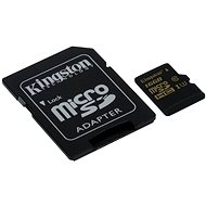 Kingston Micro SDHC 16GB UHS-I U3 + SD adapter - Memóriakártya