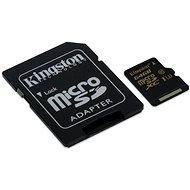 Kingston Micro SDXC 64GB UHS-I U3 + SD adapter - Memóriakártya