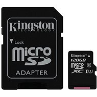 Kingston MicroSDXC 128GB UHS-I U1 + SD adapter - memóriakártya