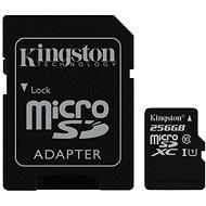 Kingston MicroSDXC 256GB UHS-I U1 + SD adapter - Memóriakártya