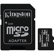 Kingston Canvas Select Plus micro SDHC 16GB Class 10 UHS-I + SD adapter - Memóriakártya