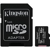 Kingston Canvas Select Plus micro SDXC 64GB Class 10 UHS-I + SD adapter - Memóriakártya