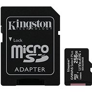 Kingston Canvas Select Plus micro SDXC 256GB Class 10 UHS-I + SD adapter - Memóriakártya