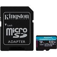 Kingston Canvas Go! Plus microSDXC 512GB + SD adapter - Memóriakártya
