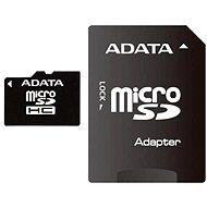 ADATA Micro 8GB SDHC Class 4 + SD adapter - Memóriakártyák