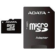 ADATA Micro SDHC 8GB Class 10 + adapter - Memóriakártya