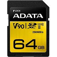 ADATA Premier ONE SDXC 64GB UHS-II U3 Class 10 - Memóriakártya