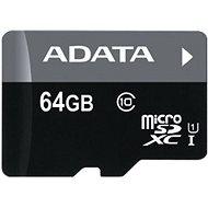 ADATA Premier microSDXC 64GB UHS-I A1 Class 10 + SD adapter - Memóriakártya