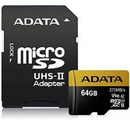 ADATA Premier ONE Micro SDXC 64GB USH-II U3 Class 10 + SD adapter - memóriakártya