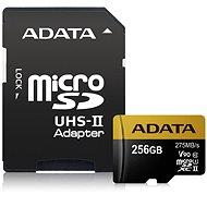ADATA Premier ONE Micro SDXC 256GB USH-II U3 Class 10 + SD adapter - Memóriakártya