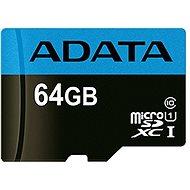 ADATA Premier MicroSDXC 64GB UHS-I Class 10 + SD adapter - Memóriakártya