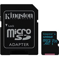 Kingston Canvas Go! MicroSDXC 128GB UHS-I U3 + SD adapter - Memóriakártya