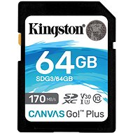 Kingston Canvas Go! Plus SDXC 64GB + SD adapter - Memóriakártya