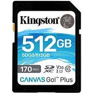 Kingston Canvas Go! Plus SDXC 512GB + SD adapter - Memóriakártya