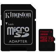 Kingston Canvas React MicroSDHC 32GB A1 UHS-I V30 + SD adapter - Memóriakártya