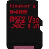Kingston Canvas React MicroSDXC 64GB A1 UHS-I V30 - memóriakártya