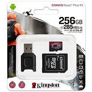 Kingston Canvas React Plus microSDXC 256GB + SD adapter és kártyaolvasó - Memóriakártya