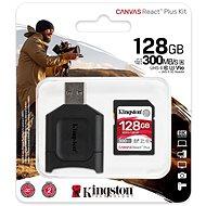 Kingston Canvas React Plus SDXC 128GB + SD adapter és kártyaolvasó - Memóriakártya