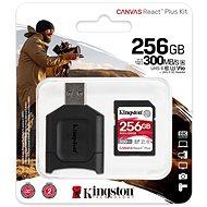 Kingston Canvas React Plus SDXC 256GB + SD adapter és kártyaolvasó - Memóriakártya