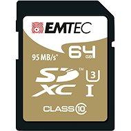 EMTEC SDXC 64GB Speed`In Class 10 UHS-I U3 - Memóriakártya