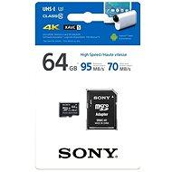 Sony Micro SDXC 64GB Class 10 + SD Adapter - Memóriakártya