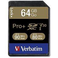 VERBATIM Pro + SDXC 64GB UHS-I V30 U3 - Memóriakártya