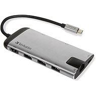VERBATIM USB-C ADAPTER USB 3.1 GEN 1/ 3x USB  3.0/ HDMI/ SDHC/ microSDHC/ RJ45 - USB Hub