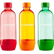 SodaStream 1 liter Tripack NARANCSSÁRGA / PIROS / KÉK - Szénsavasító palack