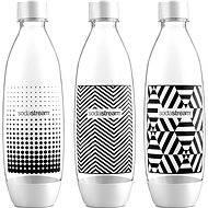 SodaStream 1 literes cserepalack Tripack Fuse fekete-fehér - Szénsavasító palack