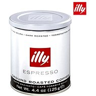 Illy Dark Roasted, őrölt, 125 g - Kávé