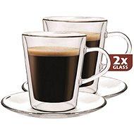 Thermo Maxx üveg poharak DH907 + 2 db csészealj - Pohár meleg italokhoz