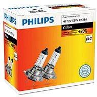 PHILIPS  H7 Vision, 55W, foglalat PX26d, 2 db - Autóizzó