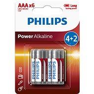 Eldobható elem Philips LR03P6BP 6 db elem - Jednorázová baterie