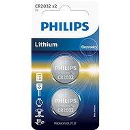 Philips CR2032P2 elem, 2 darabos csomag - Gombelem