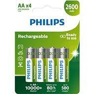 Akkumulátor Philips R6B4B260 4 darab - Nabíjecí baterie