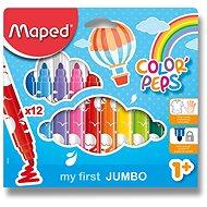 MAPED Color Peps Maxi, 12 szín, könnyedén kimosható tinta, erős hegy - Filctoll