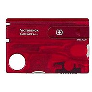 Többfunkciós szerszám Victorinox Swiss Card Lite áttetsző piros - Multitool