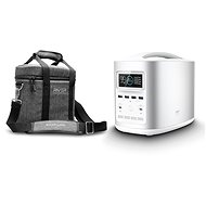 EcoFlow RIVER370 Portable Power Station Silver + Element Proof Protective Case - Akkutöltő állomás