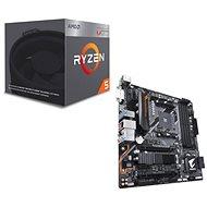 GIGABYTE B450 AORUS M + CPU AMD RYZEN 5 2400G különleges ajánlat - Szett