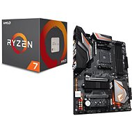 GIGABYTE AORUS X470 Ultra Gaming + CPU AMD RYZEN 7 2700X akciós csomag - Szett
